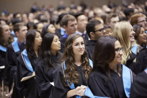 graduands sitting during convocation ceremony