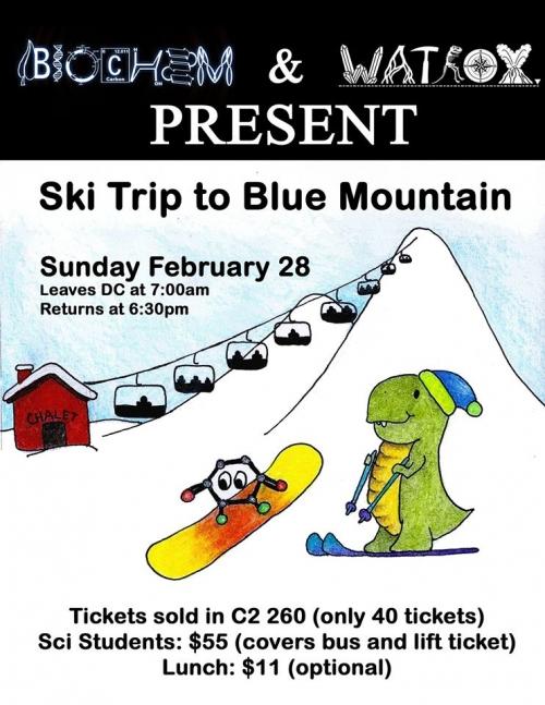 Blue Mountain ski trip poster