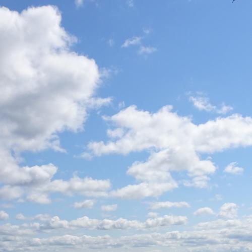 clouds in a clear blue sky