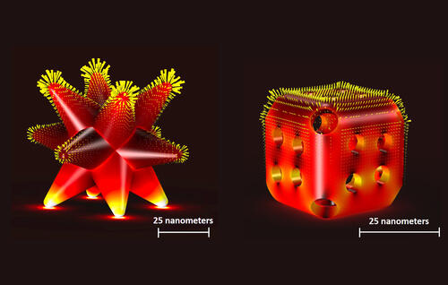 Diagram of nanoscale electrocatalysts.