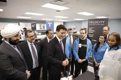 Prime Minister Justin Trudeau visits Velocity Science