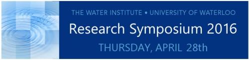 Water Institue Research Symposium 2016 Thursday April 28th