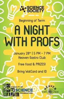 A night with profs.