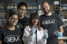 Waterloo iGEM 2013 team members Anjali Arya, XXX