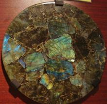 Labradorite disc