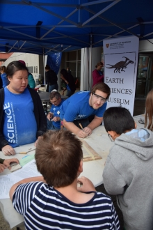 Waterloo Earth Science Museum volunteers at the Discovery Square event in Downtown Kitchener.