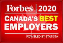 Forbes 2020 Canada's Best Employers powered by statistica