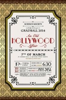 GradBall 2014 announcement poster