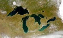 Satellite image of the Great Lakes courtesy of NASA.