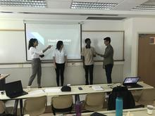 SCI 230 students presenting group project