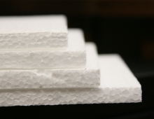 Styrofoam layers stacked on top of each other