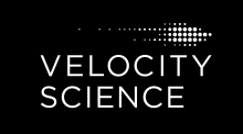 Velocity Science logo.