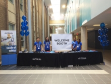 welcome booth at march open house
