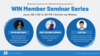 Event poster with images of all 3 speakers and their talk titles on June 29th at 1 pm on WebEx.