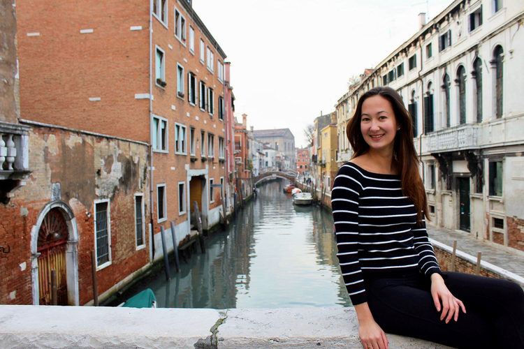 student on exchange in Venice