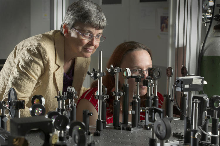 Melanie Campbell and her optical image instrument