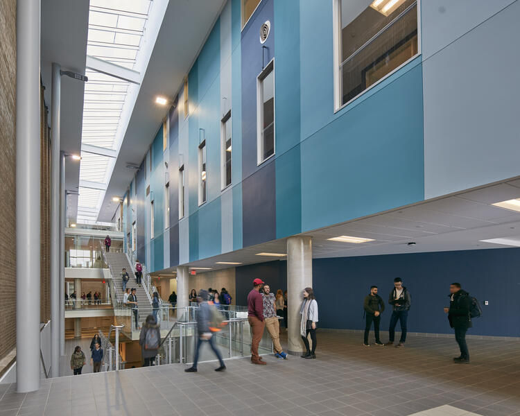 Science Teaching Complex view upon entering the building.