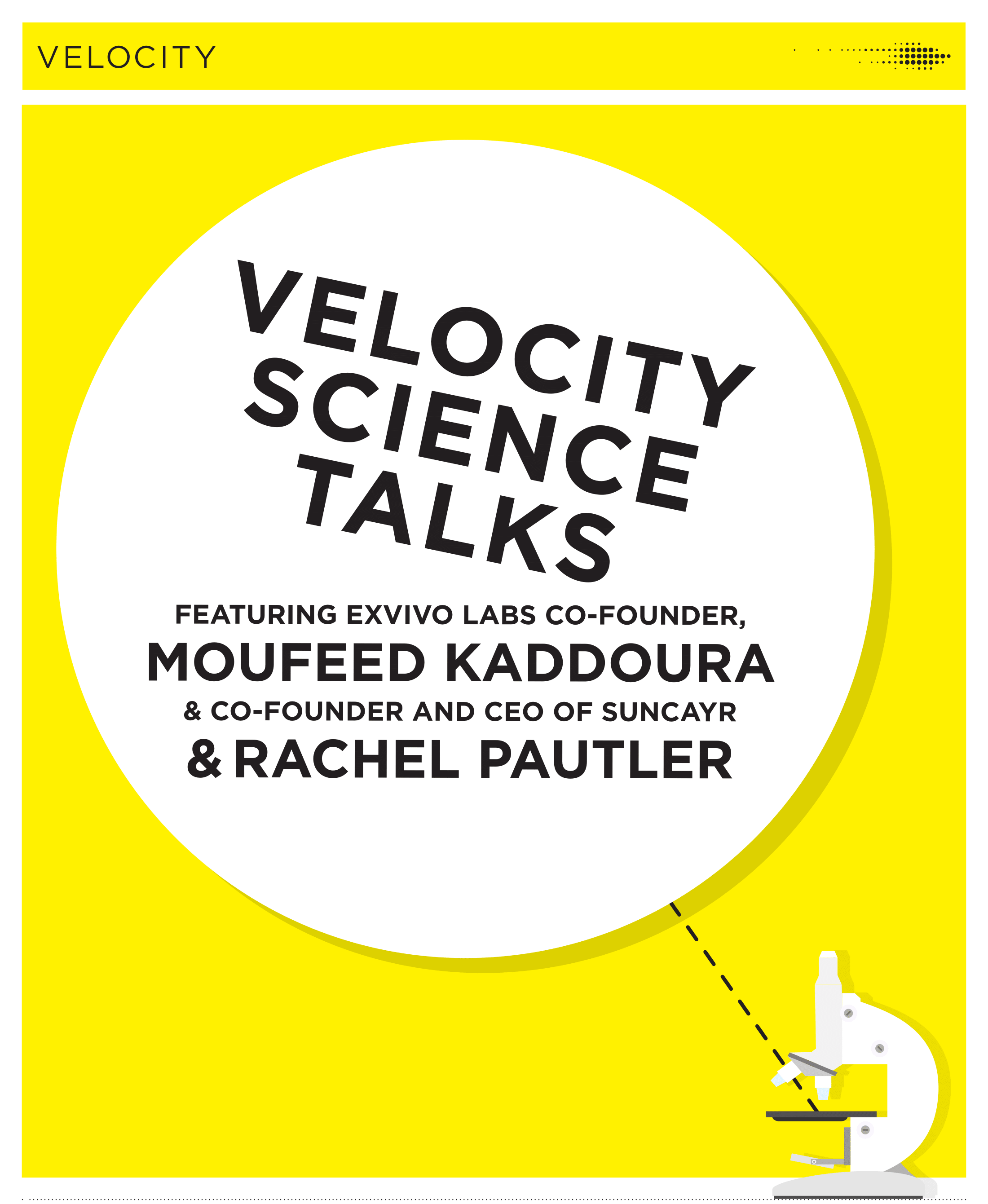 poster of velocity science talks