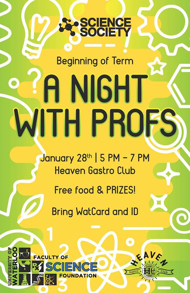 Science Society presents: a night with profs.