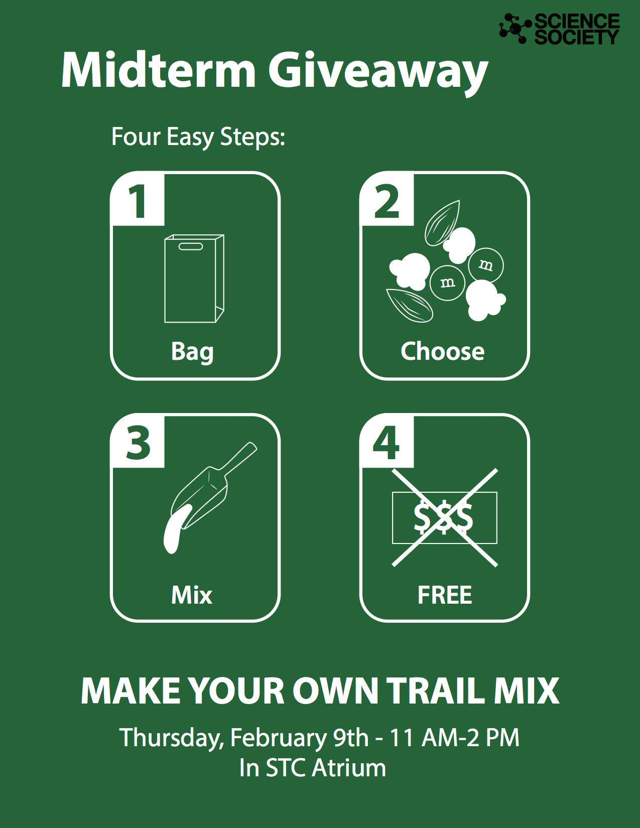 Science Society: Do it yourself trail mix giveaway