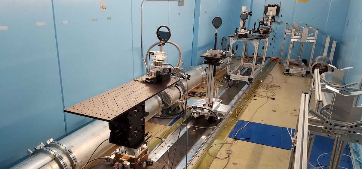 The neutron interferometer set-up beside the neutron beamline at the NIST-NCNR Centre in Maryland.