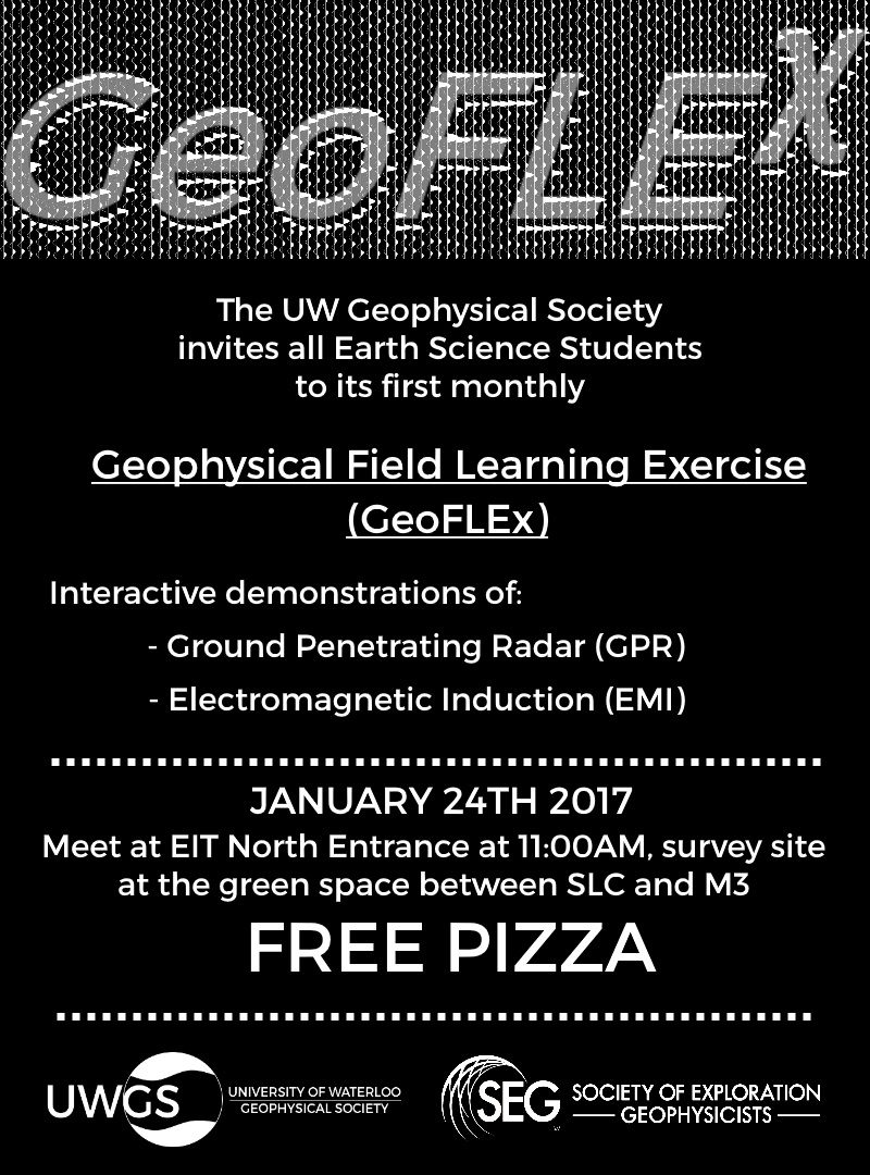 Geoflex announcement poster.