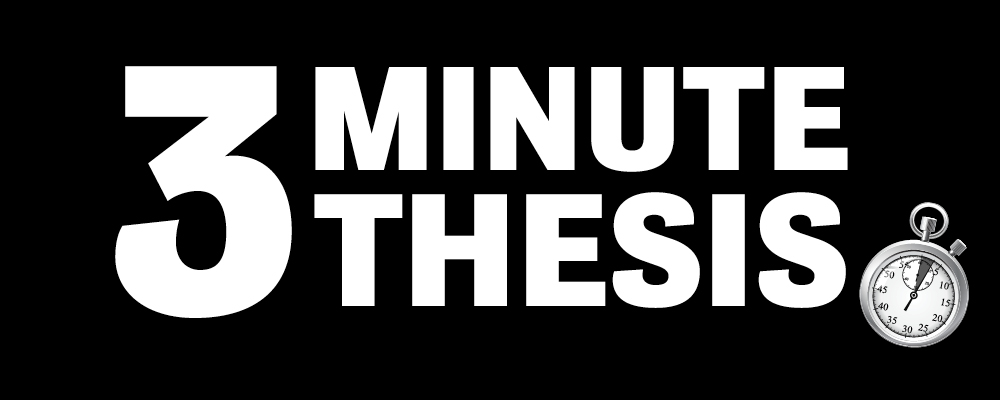 3 minute thesis with a timer icon