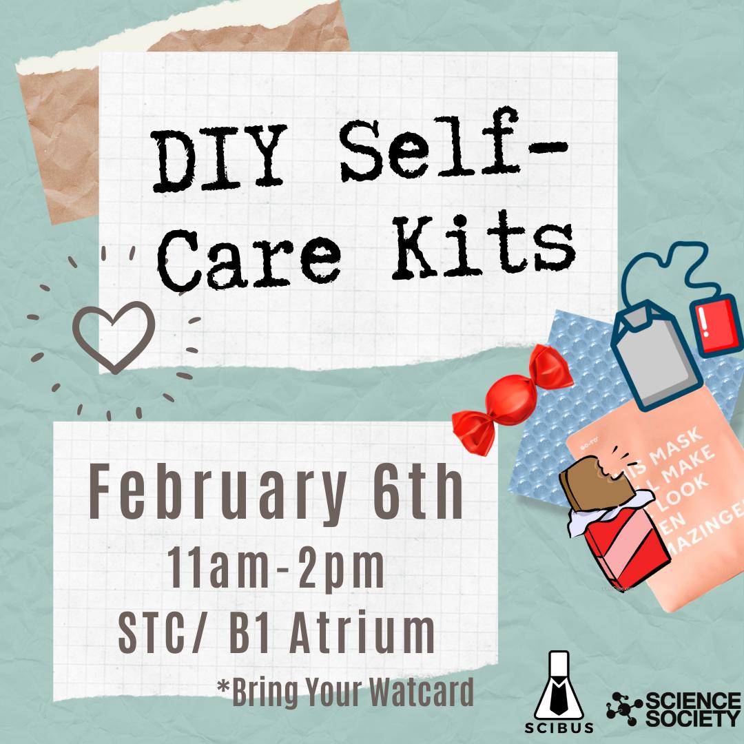 DIY Self-Care Kit Poster.