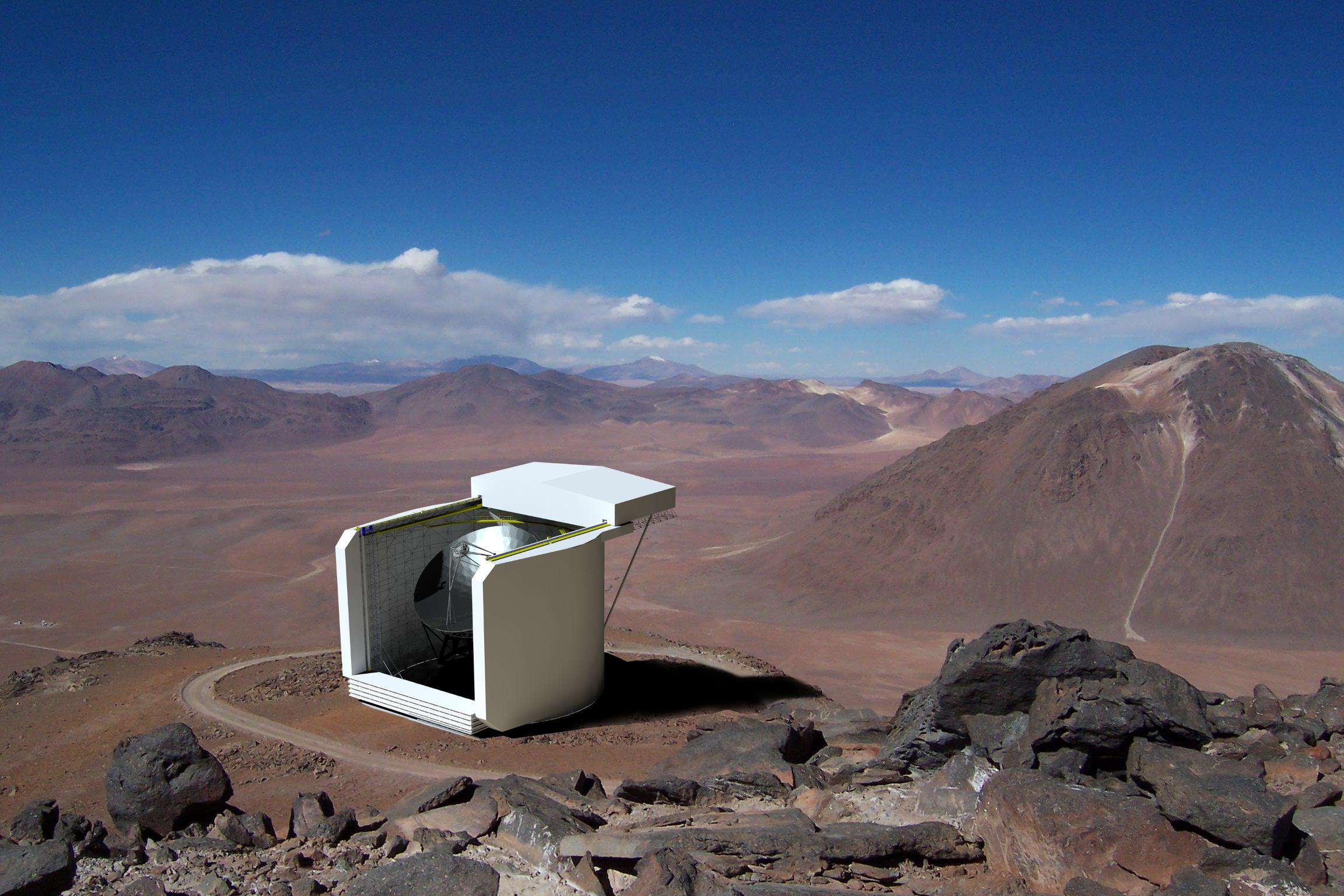 Artist rendition of the Cerro Chajnantor Atacama Telescope.
