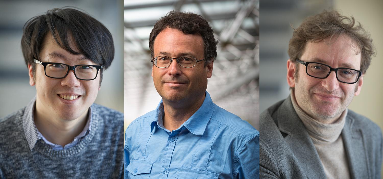 Kyung Soo Choi, Thomas Jennewein, Joe Sanderson.