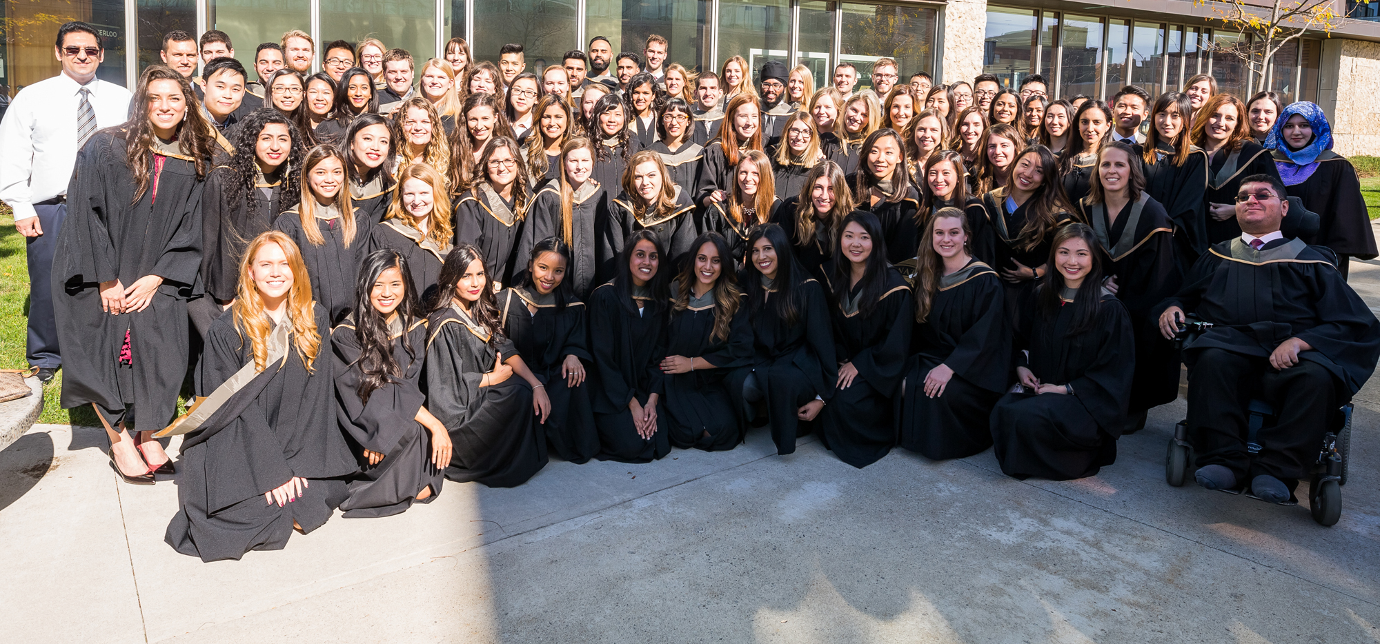 Rx2017 in their convocation robes