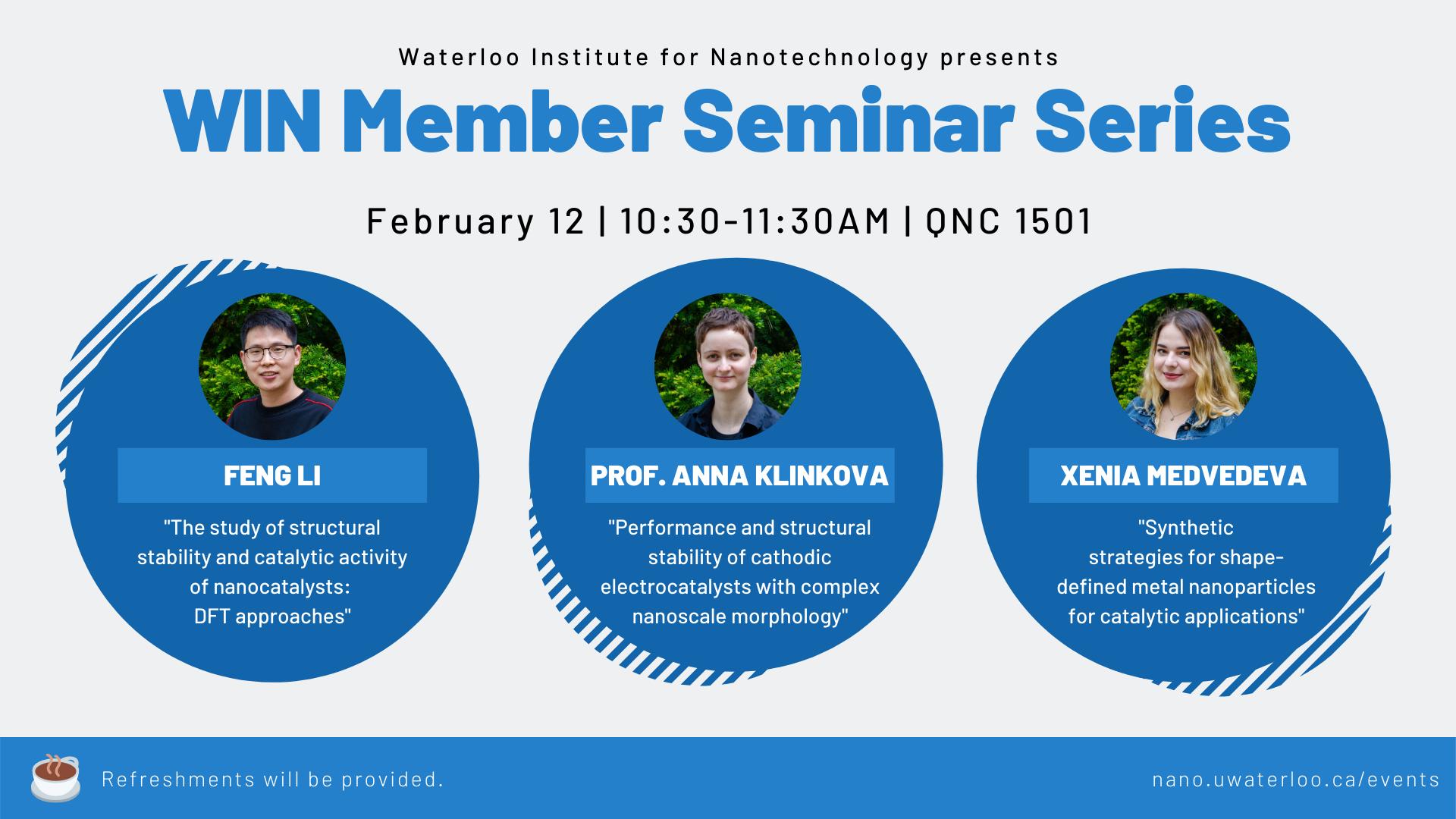 Anna Klinkova Group - WIN Seminar Series graphic.