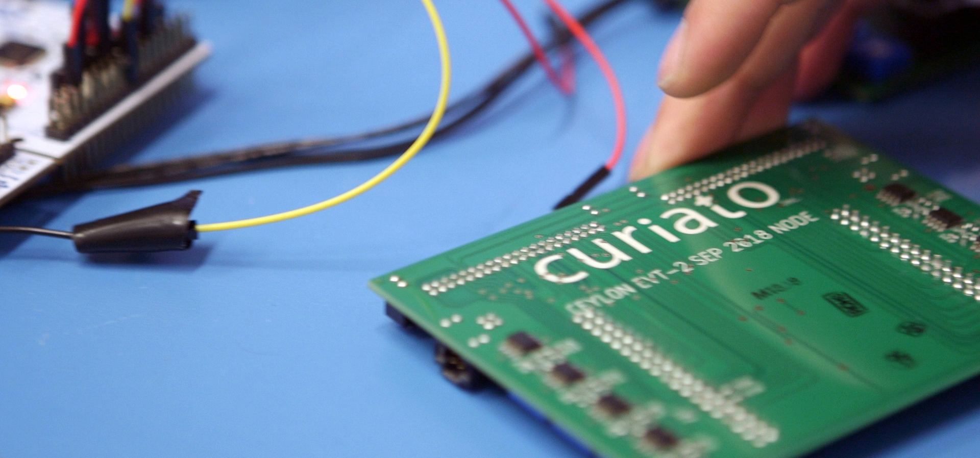 Curiato's green circuit board