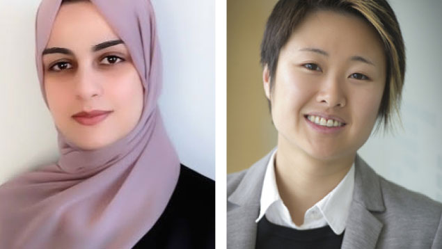 Headshots of Dania Abuleil and Amy Chow