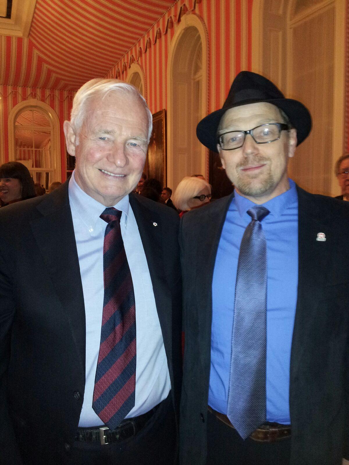 Canada Governor General David Johnston with Prof. Brian Dixon