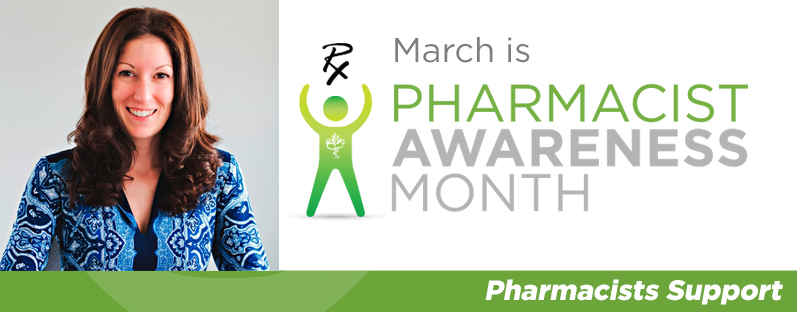 Denise Kreutzwiser smiling. March is Pharmacist Awareness Month. Pharmacists Support.