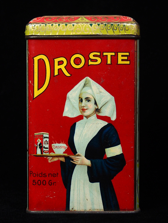 Droste coca tin showing recursive images