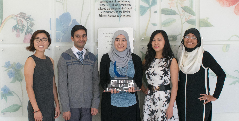 Left to right: Rui Su, Ali Syed, Israa Ali, Paula Wang and Rida Bukhari