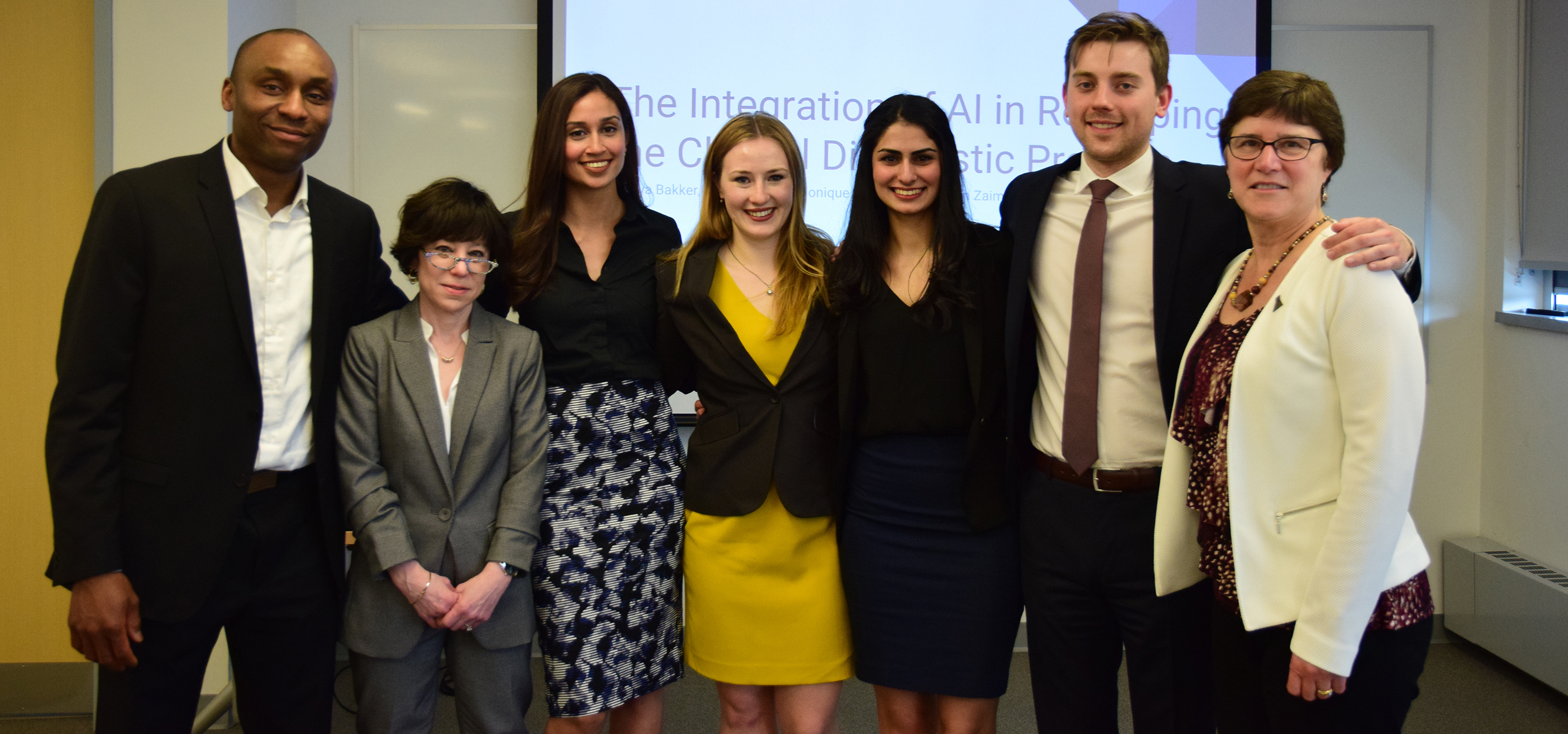 Capstone group photo with supervisors and special guest Dr. Maura Grossman.