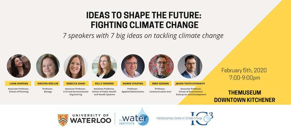 Image highlighting the speakers at the Ideas to Shape the Future talk.