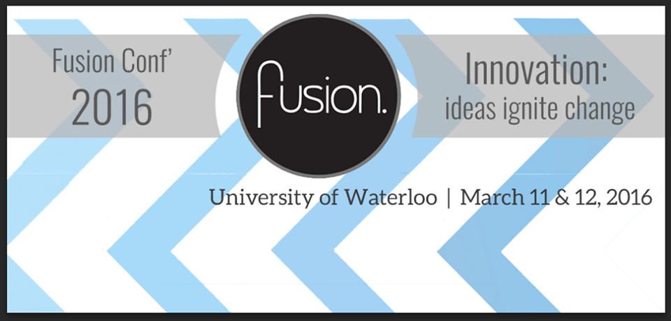 Fusion Conference 2016: Ideas Ignite Change Banner.