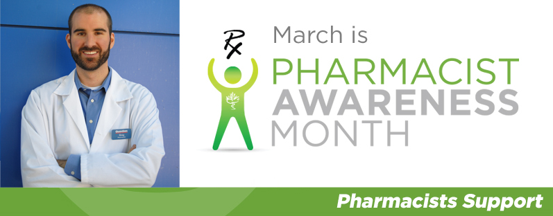 Greg Becotte smiling. March is Pharmacist Awareness Month. Pharmacists Support.