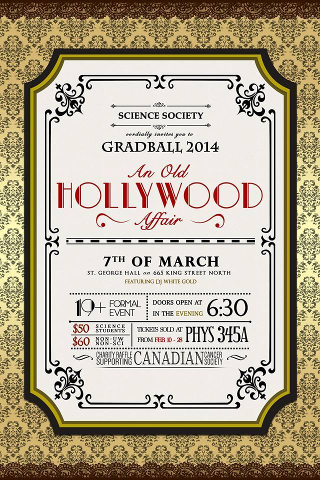 GradBall 2014 Announcement poster