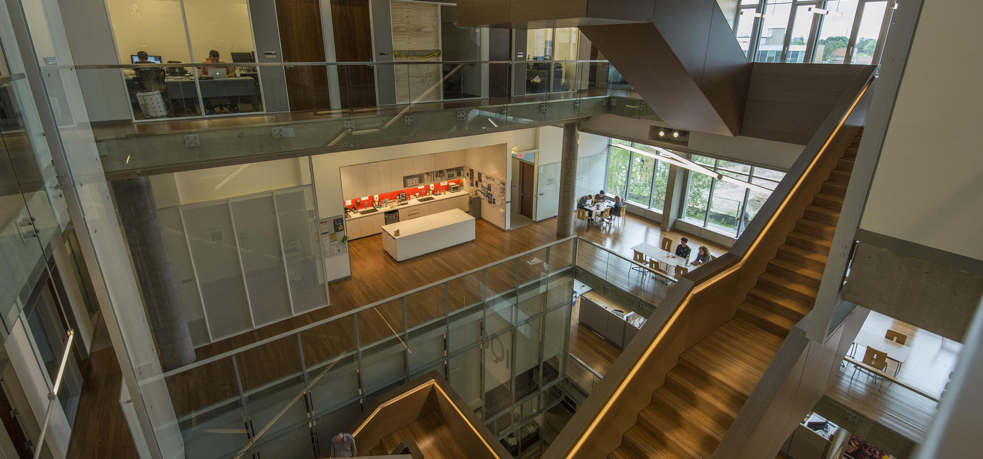Inside view of the Institute for Quantum Computing building