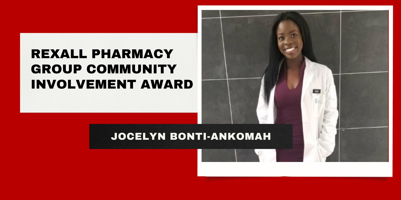 Rexall Pharmacy Group Community Involvement Award Jocelyn Bonti-Ankomah