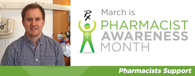 Michael Collins at Grand River Hospital. March is Pharmacist Awareness Month. Pharmacists Support.