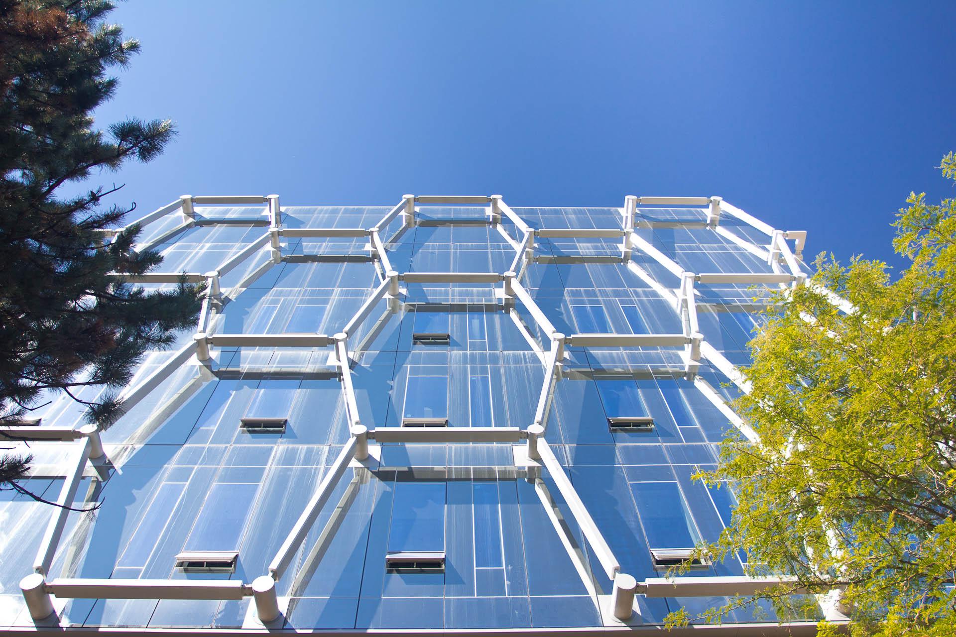 NanoMRI conference, exterior shot of the Quantum Nano Centre.