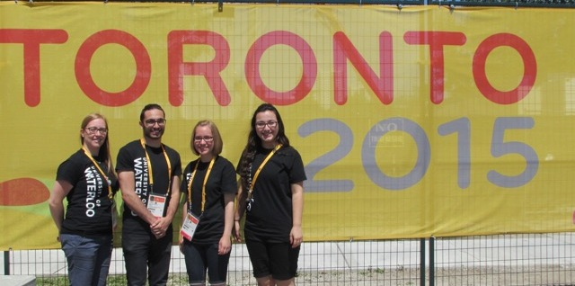 Prof. Kristine Dalton with her research team at the Parapan Am Games.