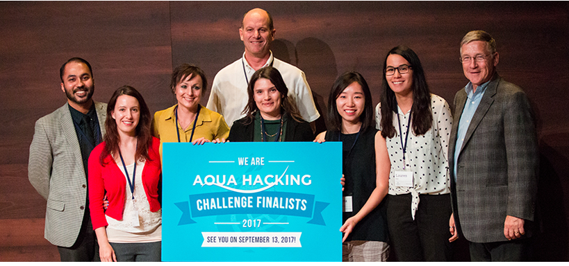 PolyGone, one of five teams advancing to the Waterloo's AquaHacking finals in September 2017.
