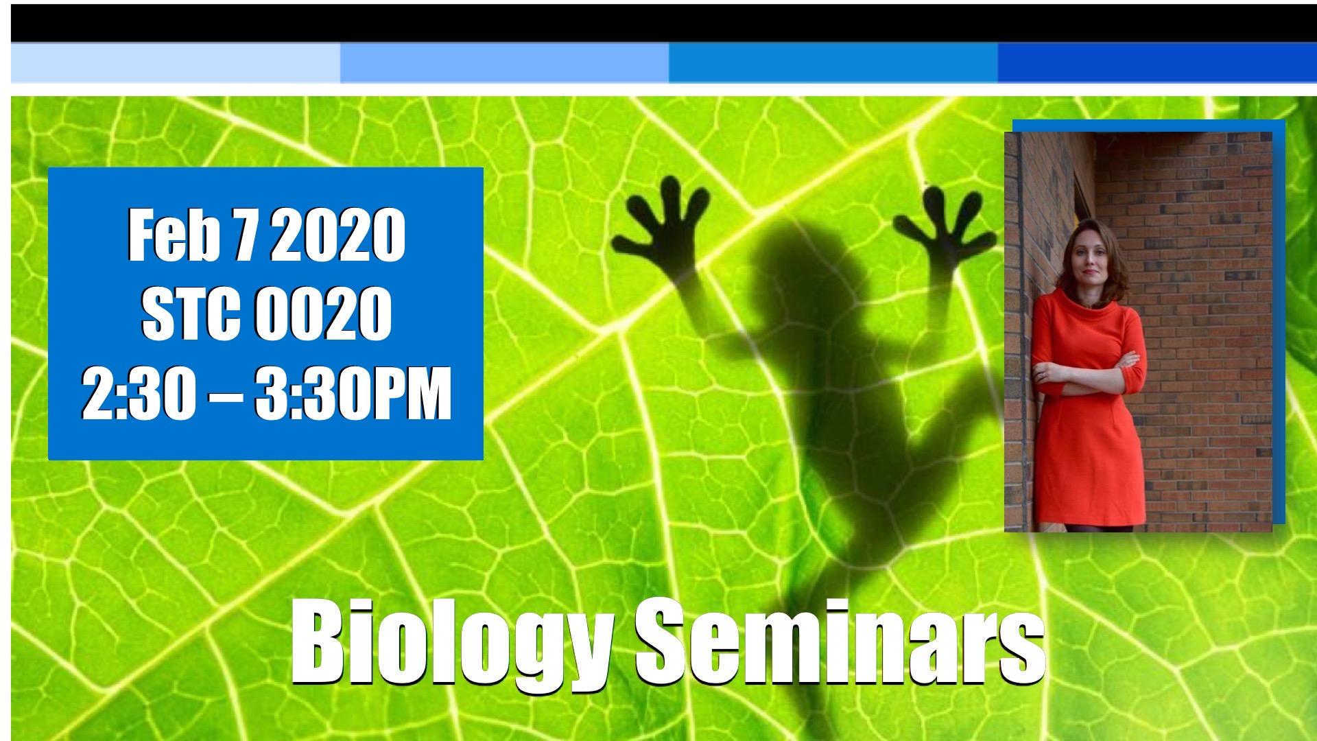 Biology seminar advertisement.